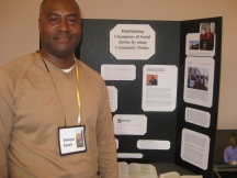 Dwayne Eason demonstrates the use of community media in social justice.