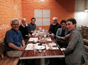 Pictured: Visiting Professor Dr Youngil Kim Dean Flesher Dr Sam Park Dr Hyung Suk Na Mrs So Hee Na Dr Malte Rhinow