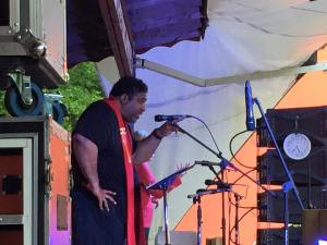 Dr. William Barber preaches at opening ceremonies.