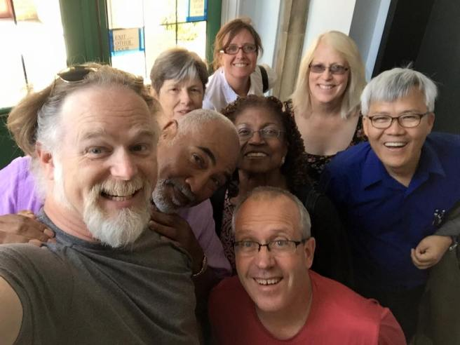 ABSW Faculty and Staff accosted Board President, Dr. Jim Hopkins on their return from lunch. We do like a good selfie.
